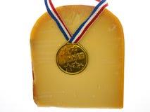 Een stuk van kaas Royalty-vrije Stock Foto's