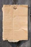Een stuk van karton stock afbeelding
