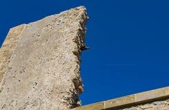 Een stuk van een oude steenmuur Royalty-vrije Stock Afbeelding