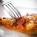 Een stuk van Pizza Royalty-vrije Stock Afbeeldingen