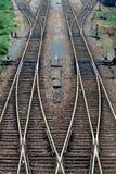 Een stuk van spoor Stock Foto