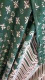 Een stuk van turquise batik van Java Royalty-vrije Stock Fotografie