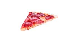 Een stuk van worstpizza Royalty-vrije Stock Foto