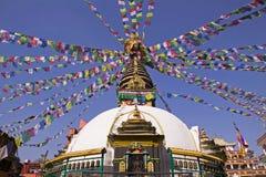 Een stupa in Katmandu Stock Fotografie