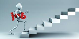 Een succesvol bedrijfsconcept het 3d teruggeven stock afbeeldingen