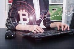 Een succesvol cryptocurrencyconcept royalty-vrije stock afbeelding