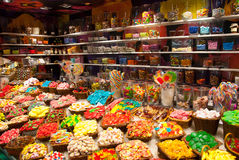 In een suikergoedwinkel Stock Afbeeldingen