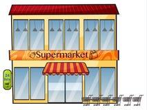 Een supermarkt royalty-vrije illustratie
