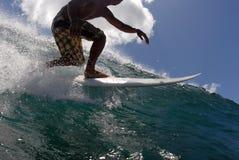 Een surfer royalty-vrije stock fotografie