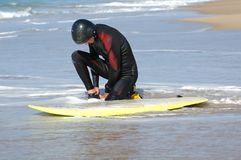 Een Surfer royalty-vrije stock afbeelding