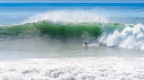 Een surfer op ankerpunt, Marokko Royalty-vrije Stock Afbeelding
