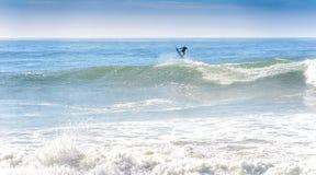 Een surfer op ankerpunt, Marokko 3 Royalty-vrije Stock Fotografie