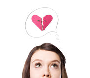Een symbool van Valentijnskaart. Stock Afbeelding