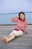 Een sympathiek Meisje Stock Fotografie