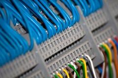 Een systeem van verbonden draden stock foto's