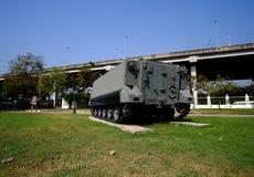 Een Tank in het Nationale Gedenkteken, Thailand Stock Afbeeldingen