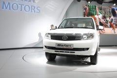 Een Tata Safari Storme op vertoning in AutoExpo 2012 Stock Afbeeldingen