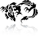 Een tatoegering van de Draak Wonderfull Stock Foto's