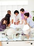 Een team van architecten op de vergadering Stock Afbeelding