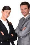 Een team van bedrijfsberoeps Stock Afbeelding