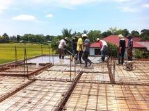 Een team van bouwvakkers Stock Fotografie