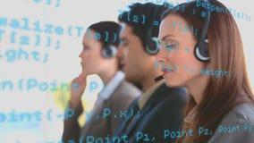 Een team van call centreagenten