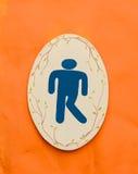 Een teken van het mensentoilet Stock Afbeeldingen