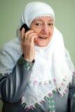 Een telefoongesprek Royalty-vrije Stock Foto