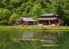Een tempel aan moutainkant Stock Foto