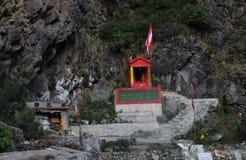 Een tempel bij badrinath, India Royalty-vrije Stock Foto