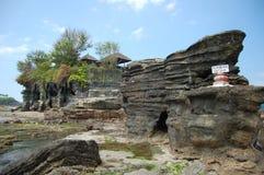 Een tempel bij Tanah Partij Bali Royalty-vrije Stock Afbeeldingen