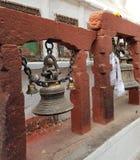 Een tempel in Nepal stock afbeelding