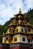 Een tempel van het de stijlboeddhisme van Tibet Stock Afbeelding