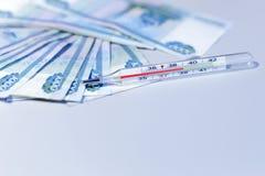 Een temperatuur van 39 Stock Fotografie