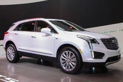 Een tentoongesteld voorwerp van Cadillac XT5 bij 2016 New York Internationaal Autos Royalty-vrije Stock Afbeelding