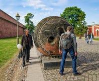 Een tentoongesteld voorwerp van het Ruimtemuseum - de topografische capsule satelliet van Kometa (Komeet) Royalty-vrije Stock Fotografie