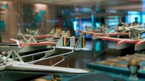 Een teruggetrokken Italiaans Luchtmachtmuseum, dichtbij Bracciano, bewegingscamera 4k stock video