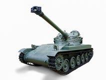 Een teruggetrokken Militaire Tank Royalty-vrije Stock Foto's