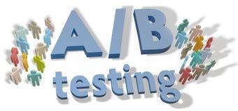 Een testend de marketing van B experiment stock illustratie