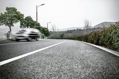 Een textuur van de weg Stock Afbeeldingen