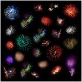 Een textuur van exploderend vuurwerk Stock Fotografie