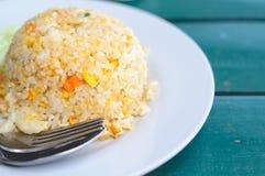 Een Thais Zeevruchten Heerlijk Menu van Krab Fried Rice With Egg Stock Fotografie