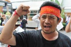 De arbeiders protesteren Stock Foto