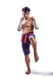 Een Thaise bokser Stock Foto's