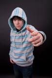 Een tienerjongen Stock Foto