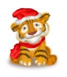 Een tijgerwelp is in wat GLB en sjaal Vector Illustratie