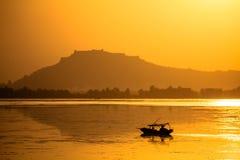 Een toeristenboot in Srinagar Royalty-vrije Stock Foto