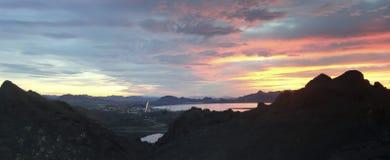 Een Toneelmening van de Tetakawi-Sleep van San Carlos, Sonora, Mex stock foto's