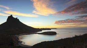 Een Toneelmening van Mirador-Vooruitzicht, San Carlos, Sonora, Mexico stock afbeelding
