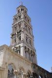 Een toren in oude stad van Spleet in Kroatië Stock Foto's